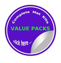Value pack complete precut mat kit sale prices